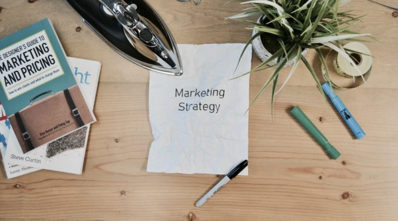 Marketing Strategy concept on worktable